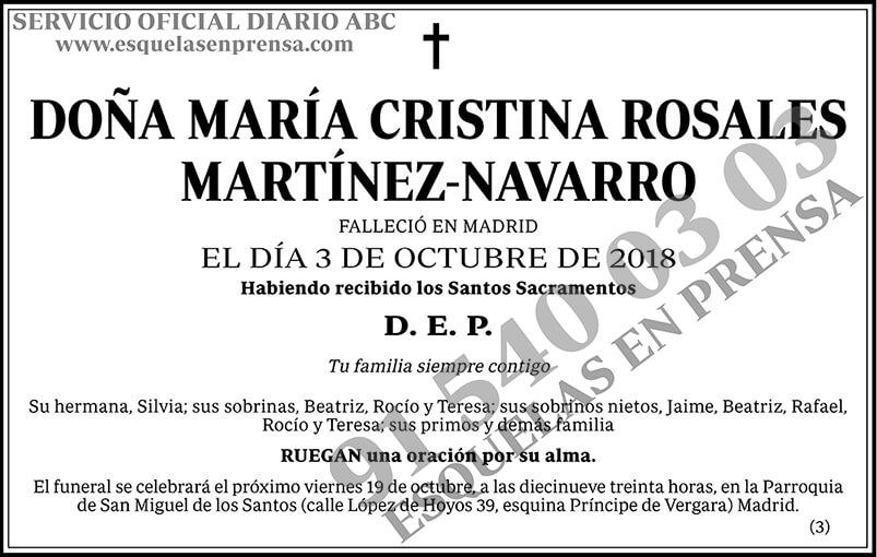 María Cristina Rosales Martínez-Navarro